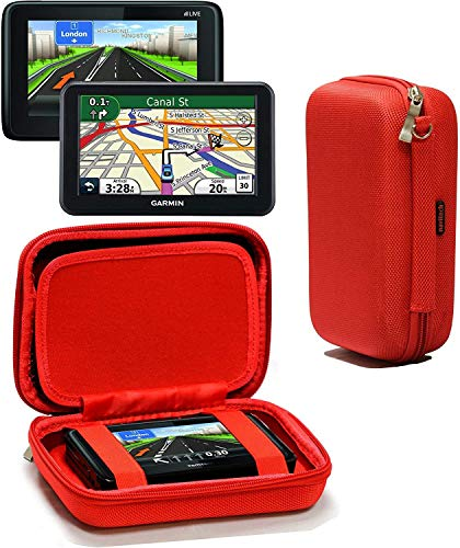 Navitech Étui De Protection Robuste en EVA Dur Rouge Compatible avec Tomtom Go Premium X 6\