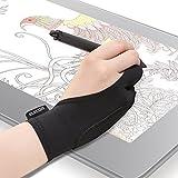 エレコム 液晶タブレット グローブ 2本指 手袋 Mサイズ 誤動作防止機能付 液タブ/板タブ/ペンタブ/iPad/スタイラスペン/Apple Pencilの使用に最適 左利き右利き両用 TB-GV2M