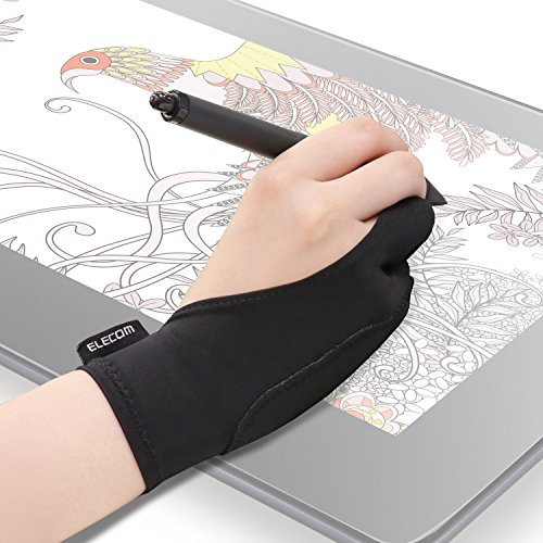 ELECOM-Japan Brand- Two-Finger Glove for Graphic Drawing Tablet Medium Size/Artist / 1 Unit of Medium Size/Both Hands Compatible Medium TB-GV2M