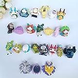 Figura de acción 50 unids/Lote Dibujos Animados Anime Figuras de acción 3-4cm Ver Miniatura Cápsula Muñecas Niños Juguetes Hobby Colecciones Figura Juguete (Color : Mix up)