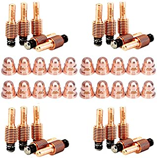 Jack&Dave 20PCS 220842 Plasma Electrodes 20PCS 220930 Plasma Tips Fit Hypertherm Powermax 45/65/85/105