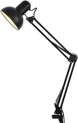 TDMBM - Lámpara de mesa plegable de brazo largo con pinza, para estudio, reparación