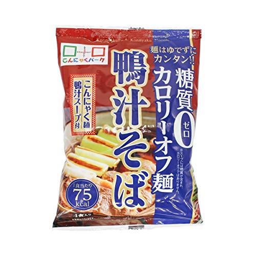 ヨコオデイリーフーズ 糖質0カロリーオフ麺 鴨汁そば こんにゃく麺 蕎麦 蒟蒻 140g 3食