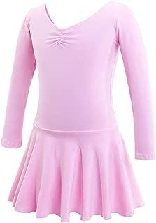 Fenical Stylischer Langärmliger Stretch-Ballett-Tanzrock für Mädchen Pink/Passende Größe 110Cm