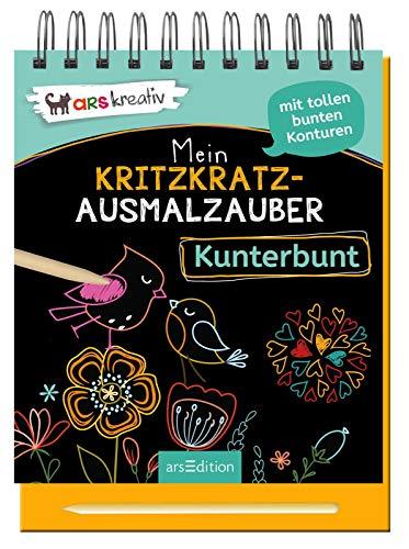 Mein Kritzkratz-Ausmalzauber Kunterbunt