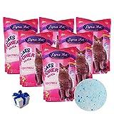 Lyra Pet® 6 x 5 L = 30 L Cats Power Silikat Katzenstreu staubfrei + Geschenk