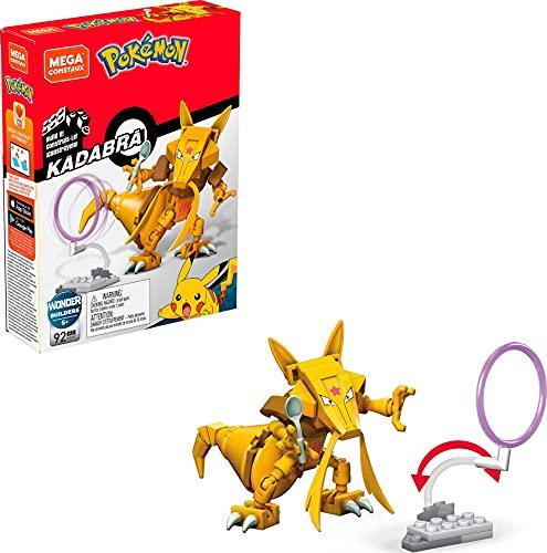Mega Construx GKY87 - Pokemon Kadabra Bauset mit 92 Bausteinen, Spielzeug ab 6 Jahren