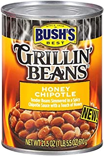 BUSH'S BEST Honey Chipotle Grillin' Beans, 21.5 Ounce Can (Pack of 12), Canned..