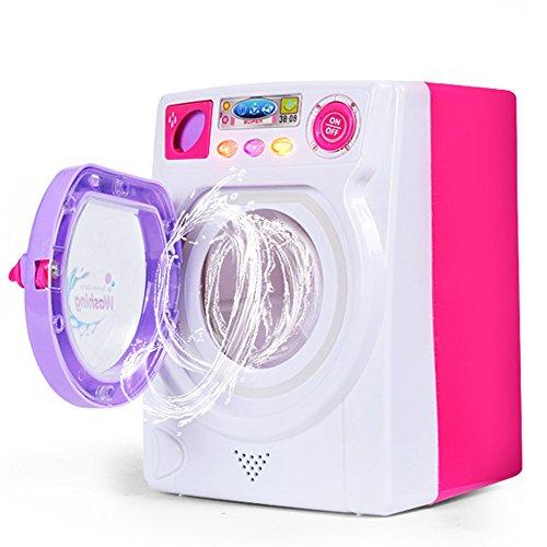 Elegantes Puppenhausmöbel für Kinder, Spiel-Spielzeug, Simulation, Waschmaschine, elektrisches Spielzeug mit Licht-Sound, Halloween-Taschen für Kinder