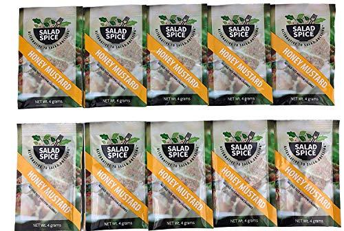Salad Spice Salad Dressing, 10 Single Serve 4 Gram Packets, (Honey Mustard)