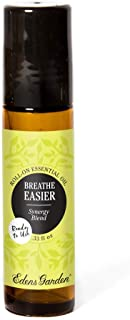 Edens Garden Breathe Easier Essential Oil Synergy Blend, 100% Pure Therapeutic Grade (Pre-Diluted & Ready To Use- Allergies & Congestion), 10 ml Roll-On