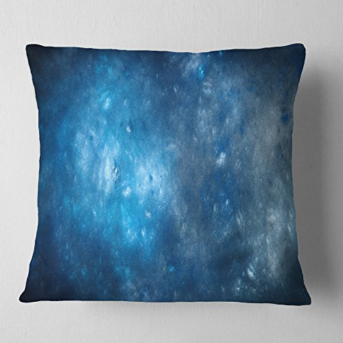 Designart Clear Blue Starry Fractal Sky Abstract Throw Cushion Pillow Cover For Living Room Sofa 16 X 16 Shefinds