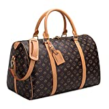 Travel Duffel Bag for Men Leather Overnight Weekender Luggage...