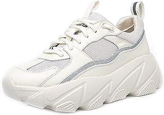 BeiaMina Women Leisure Flatform Sports Shoes Lace Up Mesh