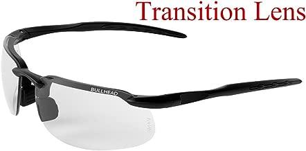 Bullhead Safety Eyewear BH10613 Safety Glass, One Size, Swordfish Matte Black Frame/Temples/Photochromic Lens