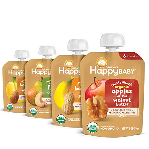 Happy Baby Organics Nutty Blends, Variety Pack, 3 Ounce (Pack of 8)