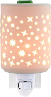 STAR MOON Wax Warmer Plug in for Home Décor, Plug in Wax Warmer, Home Fragrance Diffuser, Hollowed-Out Work, No Flame, with One More Bulb, Starry Night
