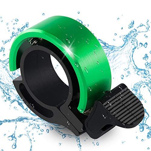 WOHOOH Fahrradklingel,O Design Fahrradglocke Laut, Mini Aluminiumlegierung Innovative Fahrrad Ring Q Bell Radfahren Fahrrad Klingel Glocke MTB Mountainbike Alarm Horn Ring von 22,2 bis 31.8mm