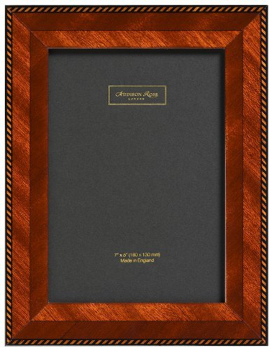 Addison Ross, Marquetry Photo Frame,5x7, Brown Rope Fiber Back, 5 x 7 Inches by Addison Ross