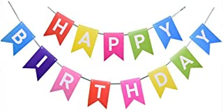 Happy Birthday Banner Birthday Party Decorations Colorful Kids party celebration