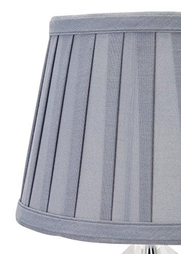 Brand Heart of House Kilmore - Lámpara de mesa con pantalla (cristal), color gris