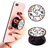 God is Good Phone Finger Foldable Expanding Stand Holder Kickstand Hand Grip Car Mount Hooks Widely Compatible with Almost All Phones/Cases