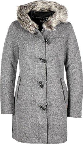 CMP Damen Walk/Woll-mantel Walkmantel, Antracite Mel/Leaf, 34