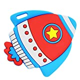 Silli Chews Best Baby Self Soothing Teether Space Rocket Ship Toddler Silicone Teething Toy Infant Pain Relief...