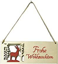 Wooden Hanging Ornament German Letter Hanging Pendant Hanging Decor for Christmas Tree Home Wall Door