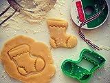 sps marketing Christmas Sock Cookie Cutter for Kids bakeware Cookie Cutter Bone
