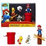 Jakks Pacific Super Mario-Set de Figuras Mundo Dungeon, Multicolor, 6 cm (85989)