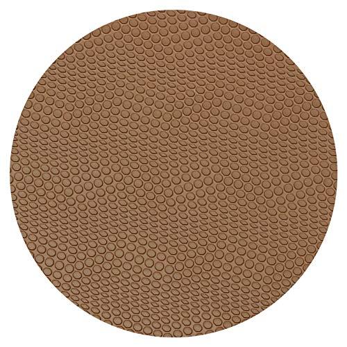 Sohlengummiplatte 250mm x 600mm 4mm stark Croco Profil in verschiedenen Farben zur Anfertigung von Schuhsohlen, Huarache Sandalen oder als Anti Rutsch Belag (braun)