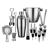 EVERYTHING YOU NEED (EXCEPT FOR THE BOOZE): 16-Piece ALL-INCLUSIVE mixology kit of serious quality bar tools. Will give you the power to whip up impressive cocktails for your guests. Whether you're an amateur bartender or a drink mixing guru, whether...
