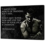 """Inspirational Canvas Painting Modern Muhammad Ali Quotes Wall Art Pictures Motivational Posters Prints Artwork Home Decorations for Living Room Bedroom Office Framed Ready to Hang - 30""""Wx40""""H"""