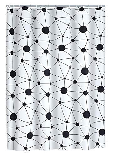 Ridder Science Folien-Duschvorhang, 100% PEVA, schwarz, ca. 180x200 cm