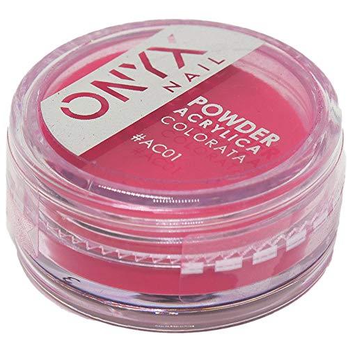 Onyxnail - polvere acrilica colorata onyxnail - colore #ac01 - colore : rosso - acc1001