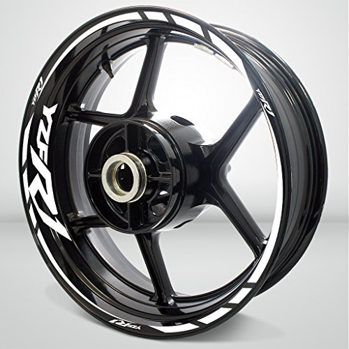 Gloss White Motorcycle Rim Wheel Decal Accessory Sticker For Yamaha...