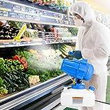 4YANG Desinfectante en Spray, ULV Eléctrico Pulverizador Fogger Máquina Desinfectante Portátil Capacidad De 5L con Cable De 5M 10 Metros De Distancia De Pulverización Pulverizador De Desinfección