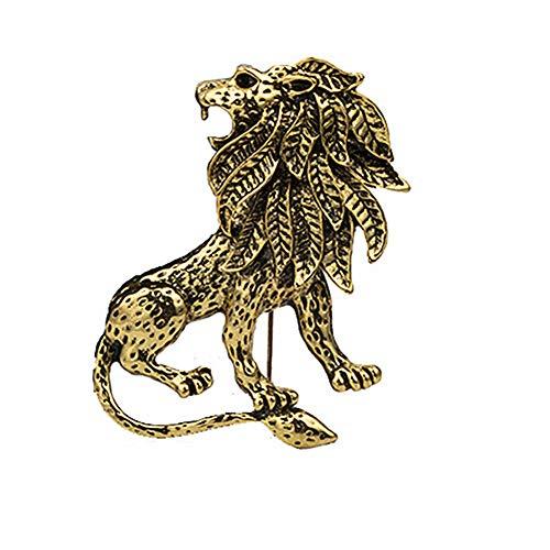 zhppac Cute Pin Badges Pin Badge Animal Brooch Silver Brooch Alloy Brooch Badge Brooches Collar Brooch Lion Brooch Vintage Brooch Gold Brooch Lapel Pin Gold