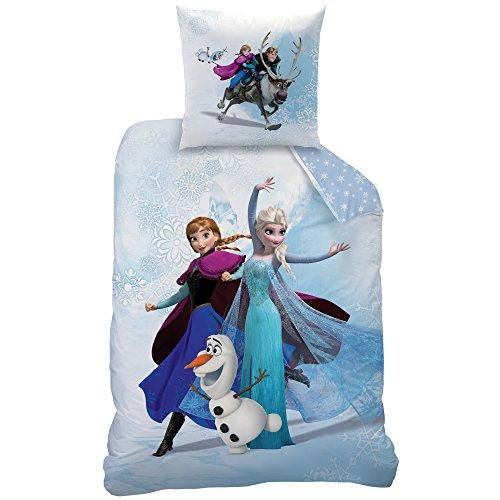 Disney Frozen Enjoy Bettwäsche, Baumwolle, Blau, 135x200x1 cm, 2-Einheiten