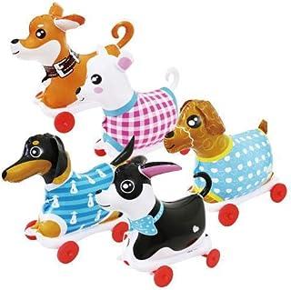 【ビニール玩具】NEW お散歩犬・小 5種アソート(5個入)