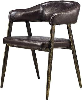 Lwieui Sillas de Comedor 2 sillas Casual Retro del Metal del Bolso Suave Silla Alta Densidad Esponja Restaurante práctico for Silla de Comedor Sillas de Comedor Cocina