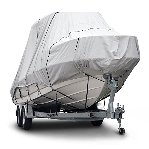 Budge B-621-X7 600 Denier Hard/T-Top Boat Cover Gray 22'-24' Long (Beam Width Up to 106') Waterproof, UV Resistant