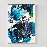 ポスター アートパネル インテリア 築飾り 絵画 壁掛け 新結婚祝い 贈り物 壁絵 玄関 キャンバス SGSJP (Color : E ブルー)