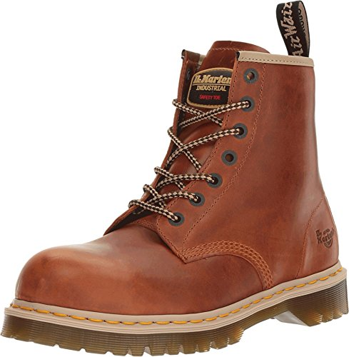 Dr. Martens Unisex Icon 7B10 Steel Toe 7 Eye Boots, Brown Leather, 8 M UK, M9/W10 M US