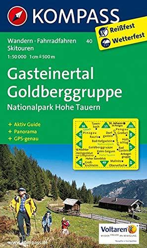 Gasteinertal - Goldberggruppe - Nationalpark Hohe Tauern: Wanderkarte mit Aktiv Guide, Panorama, Radrouten und alpinen Skirouten. GPS-genau. 1:50000 (KOMPASS-Wanderkarten, Band 40)