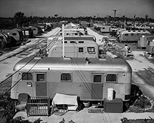 Mobile homes in a trailer park Florida USA Poster Drucken (45,72 x 60,96 cm)