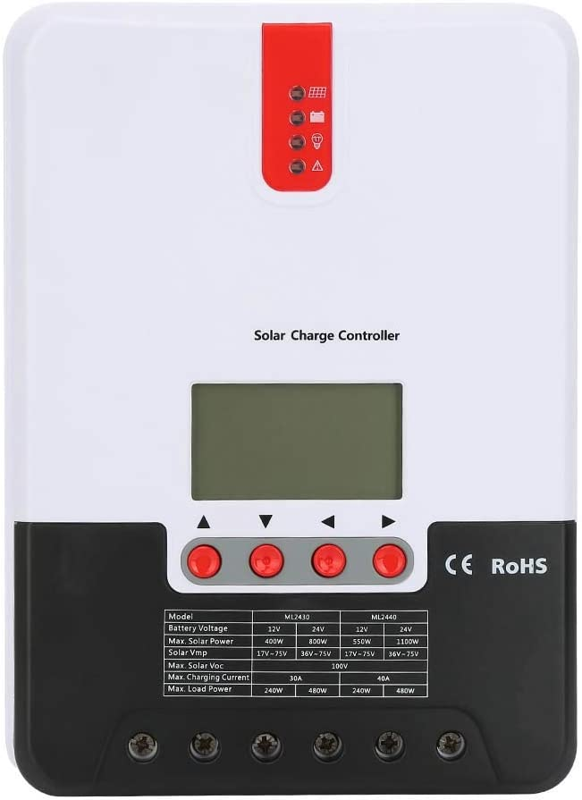 caibing 20 30 40A 12V 24V Controller with LCD Very popular Solar MPPT ! Super beauty product restock quality top! Charge