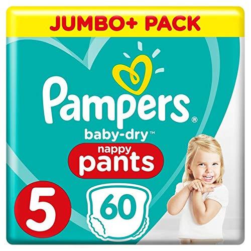 Pampers – Baby Dry Pants – Windelhöschen Größe 5 (12-17 kg) – Jumbo + Pack (x 60 Höschen)