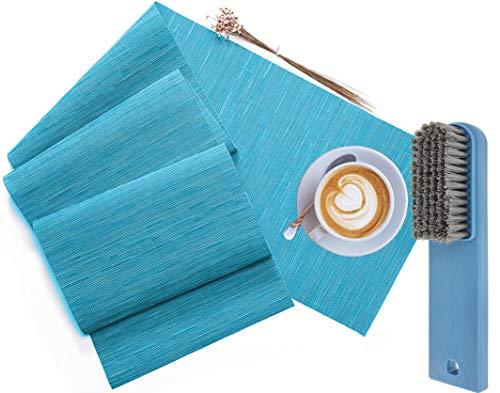 CCRoom Camino de mesa azul 30 x 180 cm, lavable, vinilo decorativo para cocina, cena, mesa, decoración